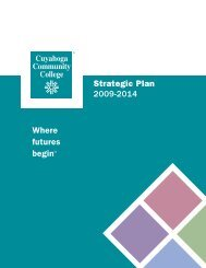 Strategic Plan 2009-2014 - Cuyahoga Community College