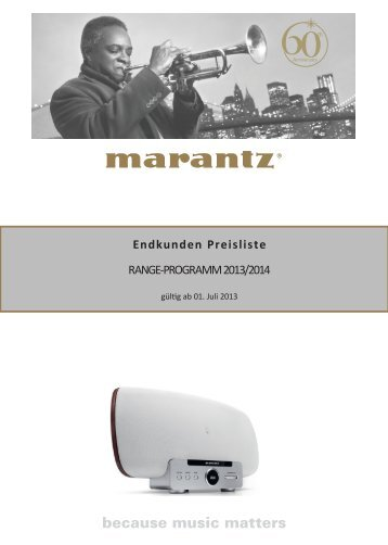 Endkunden Preisliste RANGE-PROGRAMM 2013/2014