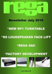 Newsletter July 2010 *NEW RP1 TURNTABLE *RS LOUDSPEAKER ...