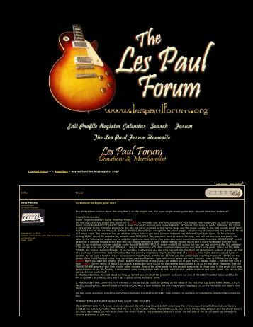guitar s les paul forum anyone build the angela guitar the blue guitar
