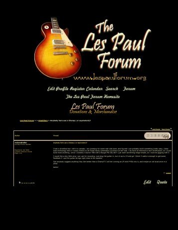 Les Paul Forum - Anybody here use a Champ ( or ... - The Blue Guitar