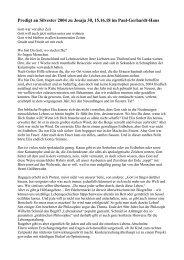 Predigt an Silvester 2004 zu Jesaja 30, 15.16.18 im Paul ... - Neues