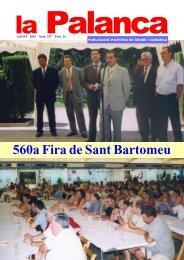 560a Fira de Sant Bartomeu d'Artesa - La Palanca