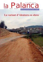 La variant d'Alentorn en obres - La Palanca