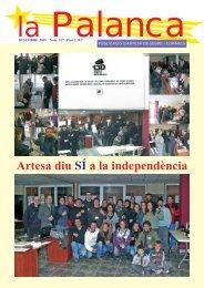 Artesa diu SÍ a la independència - La Palanca