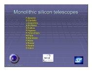 Monolithic silicon telescopes