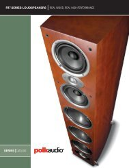 Polk Audio Stereo Bookshelf Loudspeakers RTi-A3 - Pacific Hi Fi ...