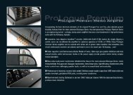 PrimaLunaPremium Amplifier Info Sheet - Pacific Hi Fi Liverpool