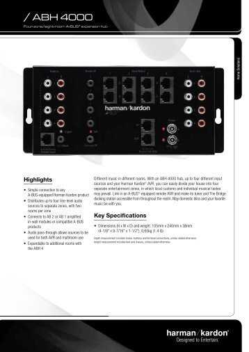 Specification Sheet - Harman Kardon ABH 4000 - E-HiFi