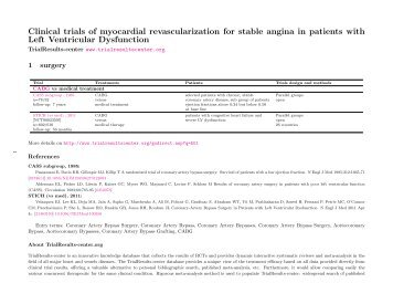 myocardial revascularization for stable angina - TrialResults-center