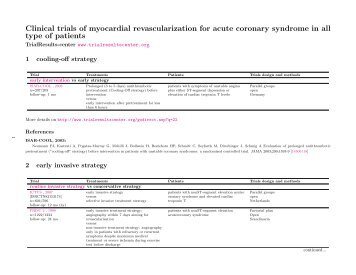 myocardial revascularization for acute coronary syndrome