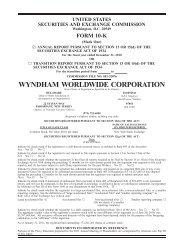 WYNDHAM WORLDWIDE CORPORATION
