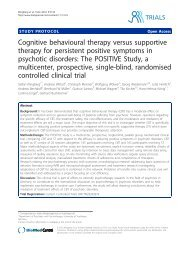 Cognitive behavioural therapy versus supportive ... - BioMed Central