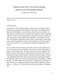 Predigt über Lukas 10,10-17 (Von der Brotvermehrung) - Triangelis.de