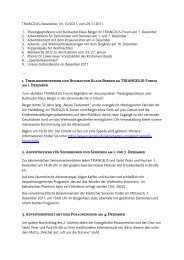 TRIANGELIS-Newsletter, Nr - Triangelis.de
