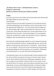 """""""Ein Weg für mehr als mich"""" – Die Bußpredigt des ... - Triangelis.de"""