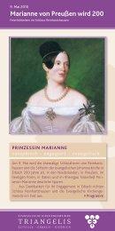Marianne von Preußen wird 200 - Triangelis.de