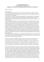 Predigt über Jesaja 30,15-17 an Silvester 2010 in der ... - Triangelis.de
