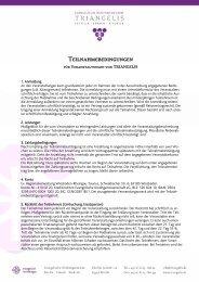 Teilnahmebedingungen - Triangelis.de