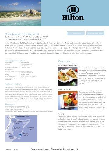 Hilton Cancun Golf & Spa Resort Restauration - Links World Golf