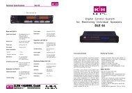 Installation, Operation, Service - Klein + Hummel