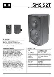 Datasheet - Installed Sound