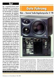 Review Studio Magazin, May 1998 - Klein + Hummel