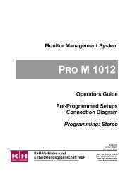 PRO M 1012 - Klein + Hummel