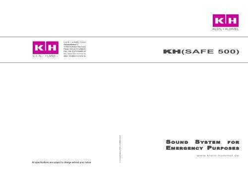 Prospectus KH[SAFE 500] - Klein + Hummel