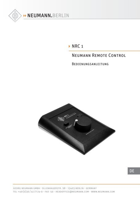 NRC 1 Neumann Remote Control