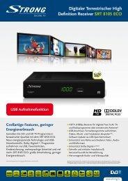 Digitaler Terrestrischer High Definition Receiver SRT 8105 ECO