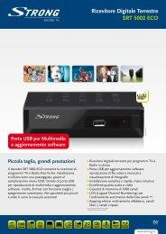 Ricevitore Digitale Terrestre SRT 5002 ECO - STRONG Digital TV
