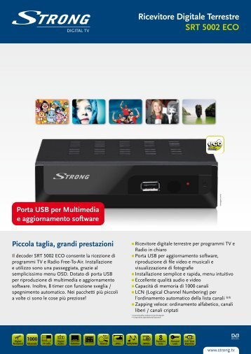 Ricevitore Digitale Terrestre SRT 5002 ECO - STRONG Digital TV