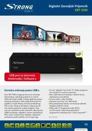 Digitalni Zemaljski Prijemnik SRT 5303 ECO - STRONG Digital TV
