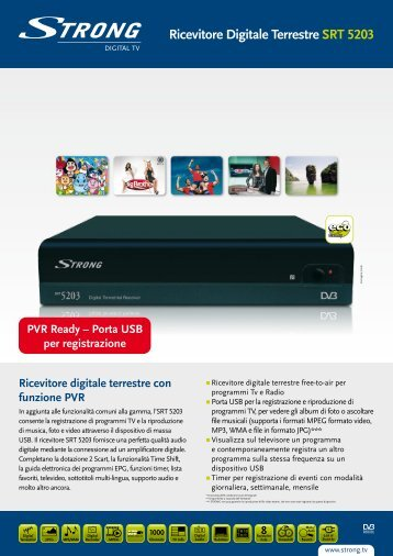 Ricevitore Digitale Terrestre SRT 5203 - STRONG Digital TV