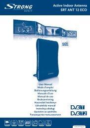 Aktív DVB-T/T2 beltéri antenna SRT ANT 12 ECO - STRONG Digital ...