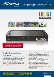 Receptor Digital Terrestre SRT 5800 - STRONG Digital TV