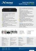 Digital High Definition Satellit modtager SRT 7300CI - STRONG ... - Page 2