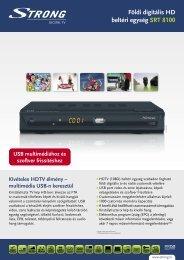 Földi digitális HD beltéri egység SRT 8100 - STRONG Digital TV