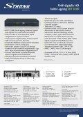Földi digitális HD beltéri egység SRT 8100 - STRONG Digital TV - Page 2