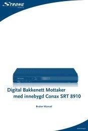 Digital Bakkenett Mottaker med innebygd Conax SRT 8910 - RiksTV