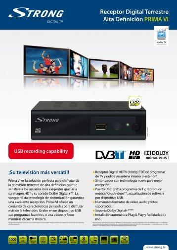 Receptor Digital Terrestre Alta Definición PRIMA VI - STRONG ...