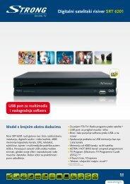 Digitalni satelitski risiver SRT 6201 - STRONG Digital TV