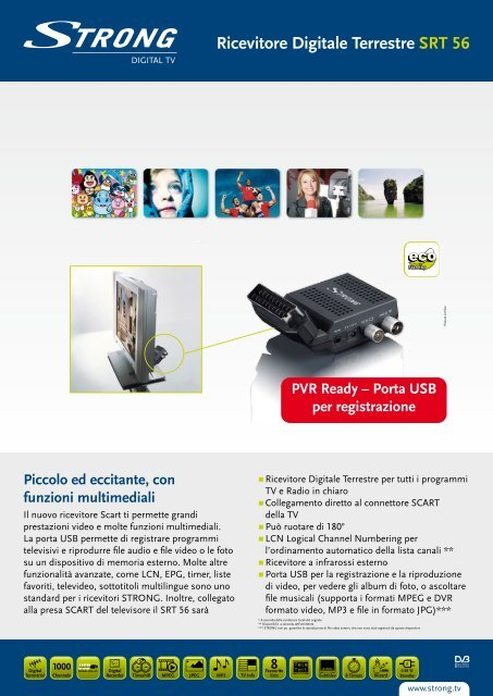 Ricevitore Digitale Terrestre SRT 56 - STRONG Digital TV