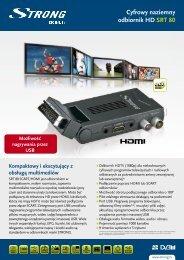 Cyfrowy naziemny odbiornik HD SRT 80 - STRONG Digital TV