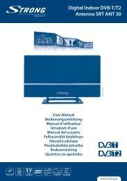 Digital Indoor DVB-T/T2 Antenna SRT ANT 30 - STRONG Digital TV