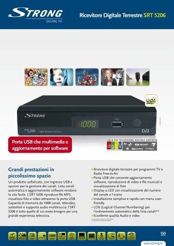 Ricevitore Digitale Terrestre SRT 5206 - STRONG Digital TV