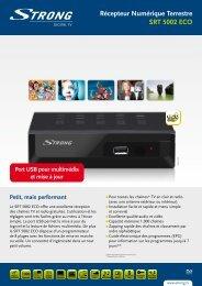 Récepteur Numérique Terrestre SRT 5002 ECO - STRONG Digital TV
