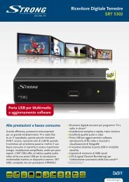Ricevitore Digitale Terrestre SRT 5302 - STRONG Digital TV