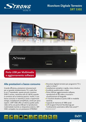 Ricevitore Digitale Terrestre SRT 5302 - STRONG Digital TV